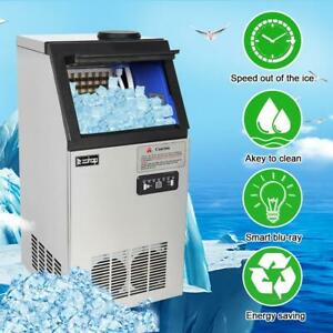 Zokop Built in Commercial Ice Maker Stainless Steel 150lbs 68kg Ice Cube Machine