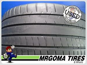 1 Michelin Pilot Super Sport Xl 285 40 19 Used Tire 77 Rmng No Patch 2854019