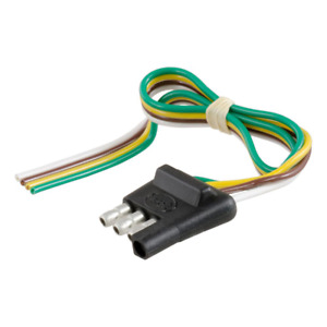 4 Way Flat Connector Plug With 12 Wires Trailer Side