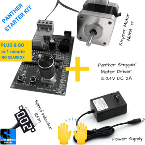 Starter Kit Panther Control Board Power Supply Stepper Motor Free Speed