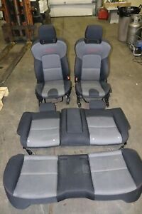 2007 2009 Mazda Mazdaspeed3 Oem Front And Rear Seats Black Grey Red Stitched