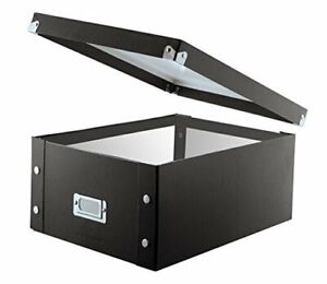 Double wide Cd Storage Box 6 125 X 10 5 1 Pack Black Cd Storage double Wide