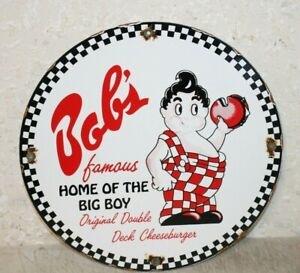 Bob s Home Of The Big Boy Porcelain Signs Vintage Style Advertising