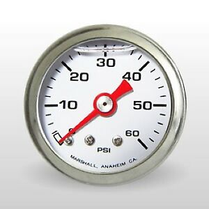 Marshall Fuel Pressure Gauge Cw00060 0 To 60 Psi 1 1 2 Full Sweep Mechanical