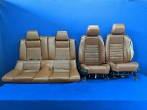2011 2014 Ford Mustang Gt Brown Leather Coupe Front Rear Seats Hot Rod Restomod