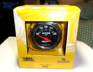 Autometer 2532 Traditional Chrome 2 1 16 Electric Water Temperature Gauge Kit