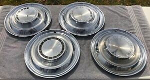 Set Of Four 1963 Chrysler Newport 300 Exc J 14 Chrome Hubcaps