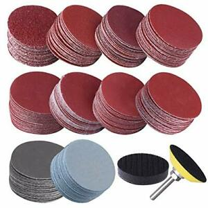 200pcs 2 Inches Sanding Discs Pad Kit For Drill Sander Attachment Sandpapers