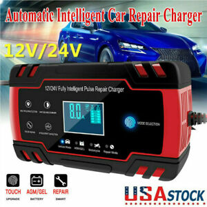 New Car Battery Charger 6 12 24v Volt Motorcycle Battery Repair Type Agm Charger