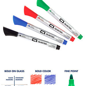 Glass Board Dry Erase Markers By Quartet Premium Fine Tip Assorted Colors