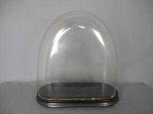 Antique Victorian Oval Hand Blown Glass Globe Dome Doll Clock 16 53 H 16 65