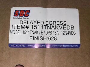 Sdc 1511tnakvedb Exit Check Delayed Egress Maglock