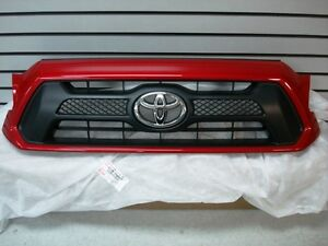 Toyota Tacoma Sport Barcelona Red 3r3 Painted Grille Genuine Oem Oe
