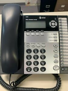 At t 1040 4 line Small Business Office Desk Phone W Handset Power Adapter