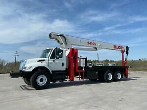 07 International 7400 W Elliott 24105 Boom Truck L k Clean Tx 24 Ton Boom Trk