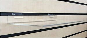 3 Clear Acrylic Slatwall Shelves 12 X 6 3 16 Inches Retail Display Or Home Use