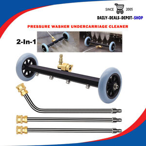 Pressure Washer Undercarriage Cleaner Surface 16 Inch Dual pose Water Broom