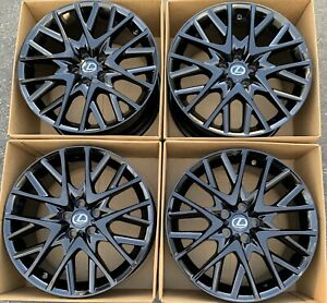 19 Lexus Rc350 Factory Wheels Rims Gloss Black Oem Rc Rc300 Staggered Set 4
