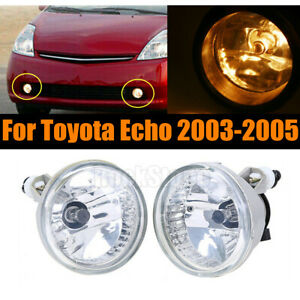 Pair Of Bumper Fog Light Driving Lamps For Toyota Echo 2003 2005 Left Right