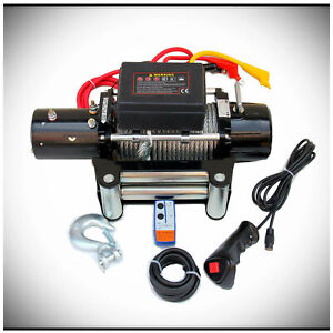 13000lb Dc 12v Electric Mute Auto Brake Ip67 Waterproof Winch Kit