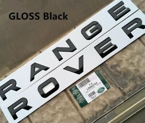 Gloss Black Range Rover Trunk Badge Emblem Decal Letters Sticker For Land Rover