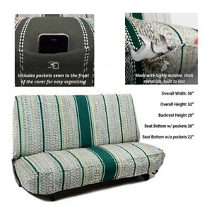 Saddle Blanket Full Size Bench Seat Cover Chevrolet Dodge Protector Truck Green