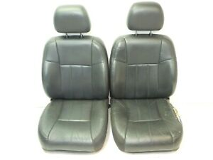 Jeep Cherokee Xj 96 01 Oem Graphite Interior Front Leather Seat Pair Free Ship