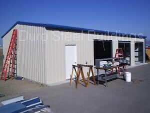 Durobeam Steel 40 x50 x12 Metal Garage Workshop Diy I beam Building Kit Direct
