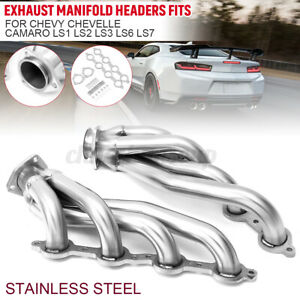 Stainless Steel Exhaust Manifold Headers Fits For Chevy For Chevelle Camaro Usa