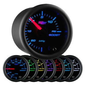 Glowshift Black 7 Color 15 Psi Boost Vacuum Gauge Glow Shift Boost Gauge