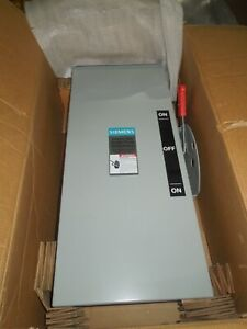 Siemens Dtgnf223nr 100a 2p 240v 3r Double Throw Non fused Manual Transfer Switch