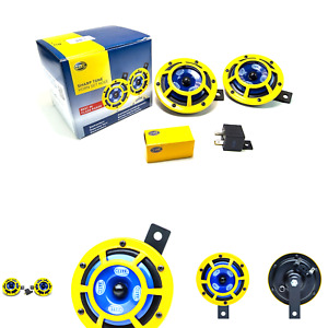 Hella H31000001 Sharptone 12v High Tone Low Tone Twin Horn Kit With Yellow