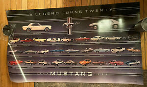 Nos Oem Ford 1984 Mustang Dealership Display Poster 20th Anniversary Rare New