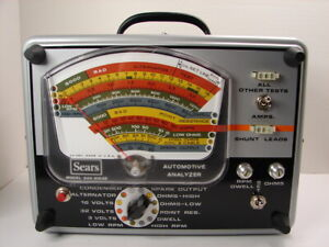 Vintage Sears Super Automotive Analyzer Model 244 21032 Partially Tested