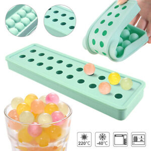 Round Silicone Ice Cube Tray Balls Maker Frozen Sphere Mold Bar Whisky Cocktails