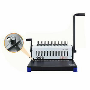 Spiral Coil Calendar Binding 21 Holes Punching Machine Solid Handle Sd 220b New