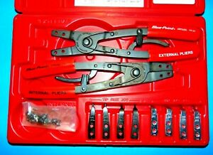 Blue Point Snap on Pr50a 2 Pc Retaining Ring Pliers 8pc Heavy Duty Tips New