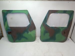 Jeep Wrangler Cj Yj 76 95 Oem Soft Full Door Set Pair Camo Free Shipping