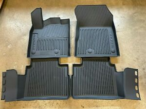 New Oem 2021 Nissan Rogue 4 Pc Molded All Weather Rubber Floor Mats Black