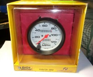 Autometer 5892 Phantom 3 3 8 Mechanical Speedometer Gauge 0 120 Mph