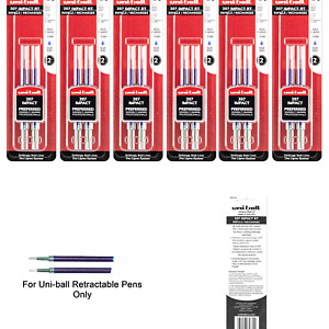 Uni ball Signo Impact 207 Rt Refills Blue Ink 1 0 Mm Bold Point 6 Packs Of