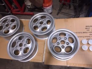 4 Porsche 944 15 Phone Dial Later Offset Powder Coated With Center Caps Oem