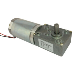 Dc Gear Motor Dc 12v 24v Worm Reducer Geared Electric Motor With Gearbox Diy