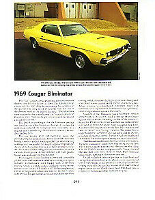 1969 Mercury Cougar Eliminator Article Must See