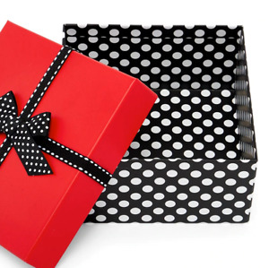 Christmas valentine s Gift Box With Lids For Presents 6 X 6 x3