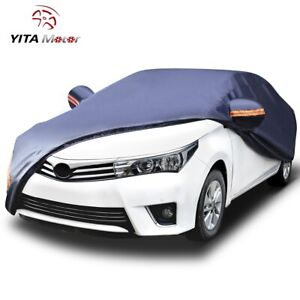 Yitamotor Car Cover Peva Waterproof All Weather Protection Multi Sizes Car Cover