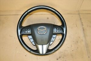 2010 2013 Mazdaspeed 3 Hatchback Turbo Oem Steering Wheel Black W Srs Air B