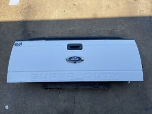2011 2016 Ford F250 F350 F450 Tailgate Factory Oxford White W Step Camera Oem