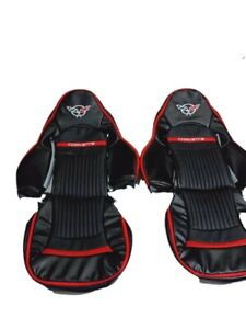 Chevy Corvette C5 1997 2004 Synthetic Leather Custom And Compatible Seat Covers
