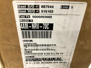 Gast 4am nrv 70c 1 7hp Reversible Flange Air Actuated Motor 3 000 Max Rpm
